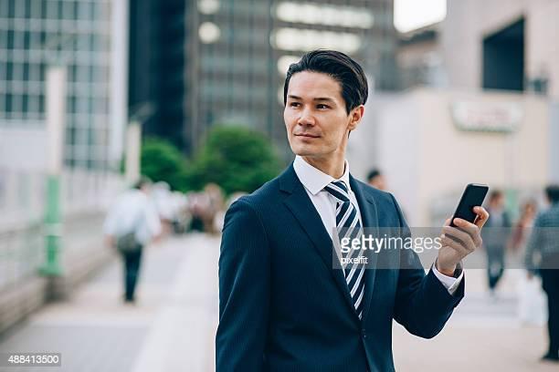 東京で日本のビジネスマン