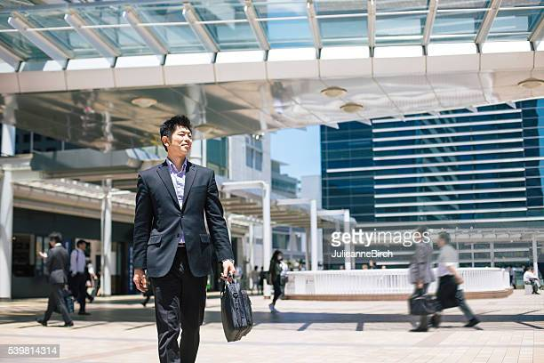 Japanese businessman on his way to work