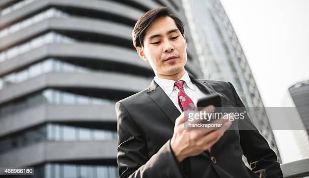 日本のビジネスマンの電話