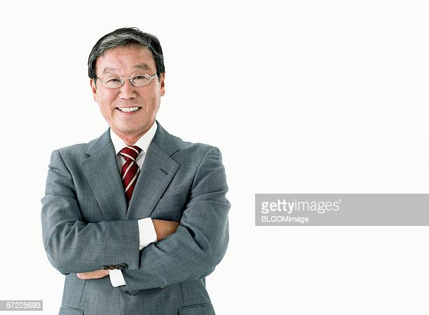Japanese businessman smiling