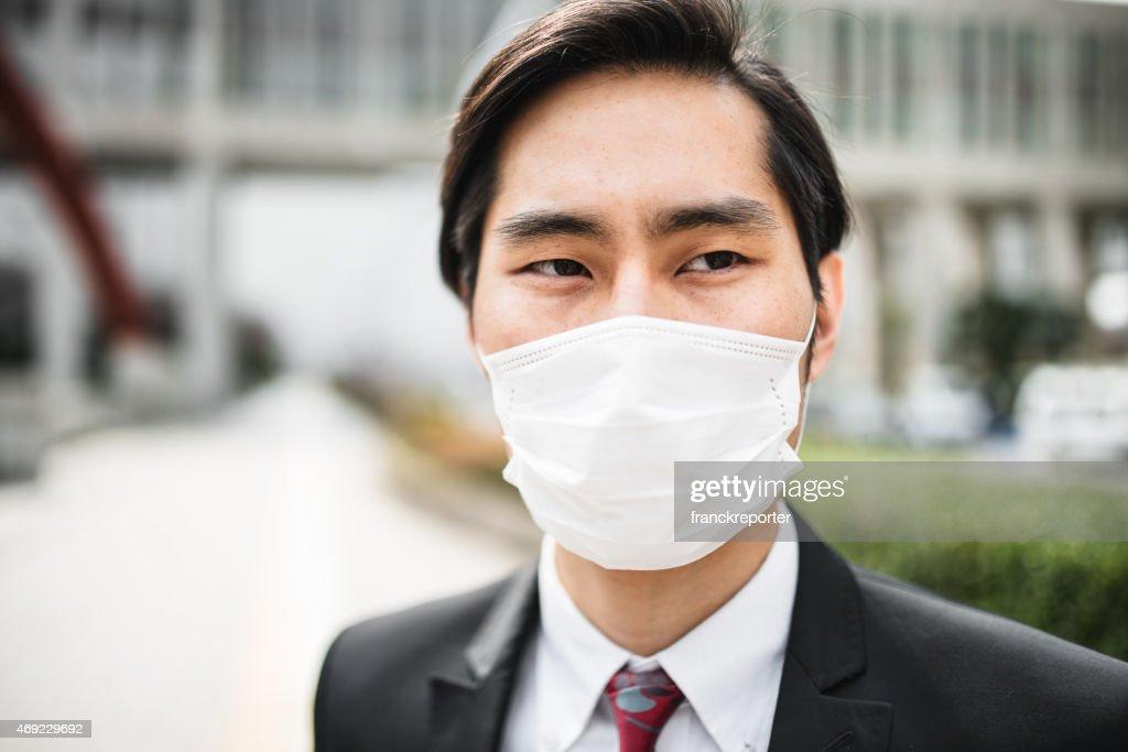 masque anti pollution noir japonais