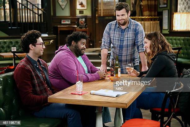 UNDATEABLE A Japanese Businessman Walks Into a Bar Episode 201 Pictured Rick Glassman as Burski Ron Funches as Shelly David Fynn as Brett Bianca...