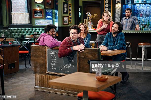 UNDATEABLE A Japanese Businessman Walks Into a Bar Episode 201 Pictured Ron Funches as Shelly Rick Glassman as Burski Bianca Kajlich as Leslie...