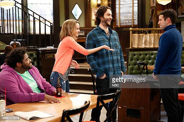 UNDATEABLE A Japanese Businessman Walks Into a Bar Episode 201 Pictured Ron Funches as Shelly Bridgit Mendler as Candace Chris D'Elia as Danny Brent...