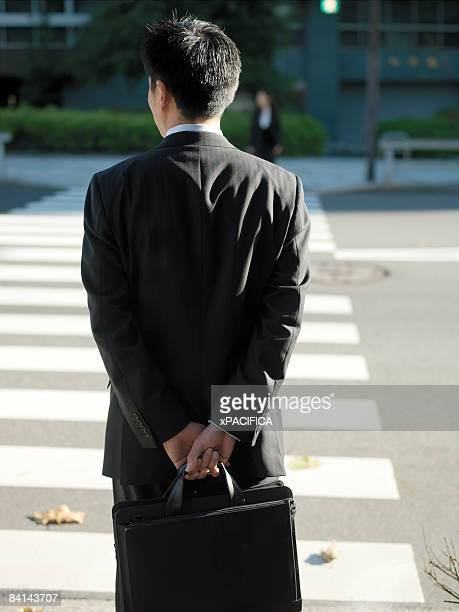Japanese businessman with briefcase