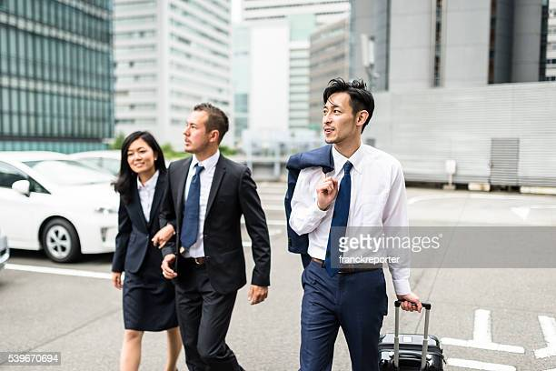 japanese Businessmen on the street of Osaka
