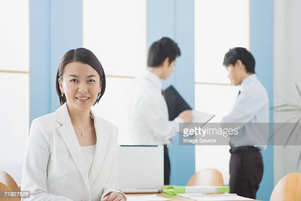 Japanese businesspeople in office
