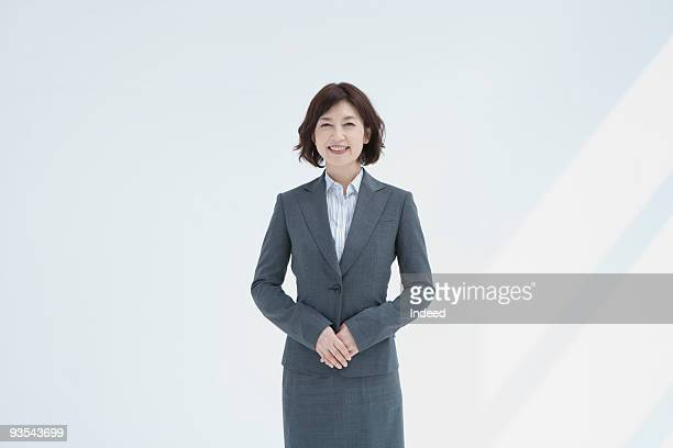 Japanese businesswoman smiling