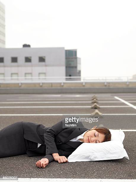 japanese bussiness woman sleeping  - lying on side stock pictures, royalty-free photos & images