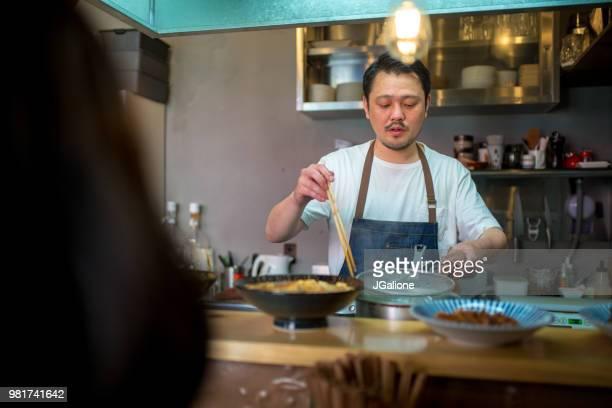 Japanese chef in an Izakaya Restaurant