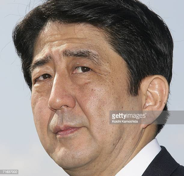 Japanese Chief Cabinet Secretary Shinzo Abe visits his father's grave Shintaro Abe the former secretarygeneral of the Liberal Democratic Party at the...