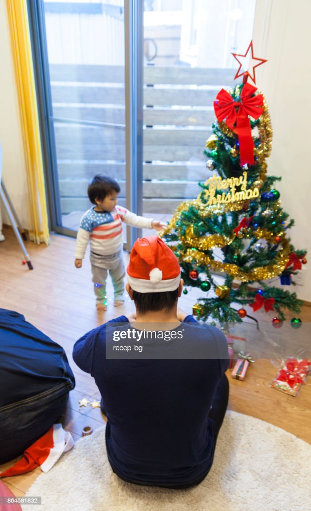 Japanese Christmas Tree.Japanese Child With Christmas Tree Stock Photo Getty Images