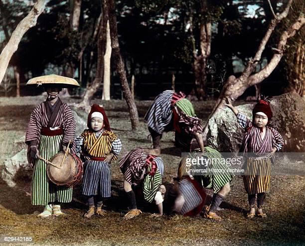 Japanese Children Acrobats circa 1880