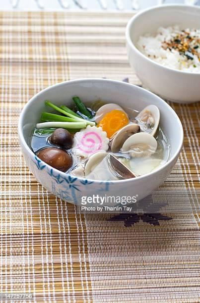 Japanese clams broth