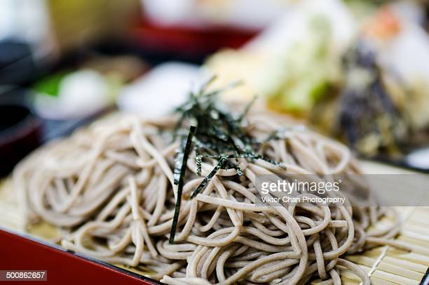 japanese cold soba - soba stock pictures, royalty-free photos & images