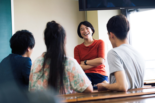 Japanese college students are presenting - gettyimageskorea