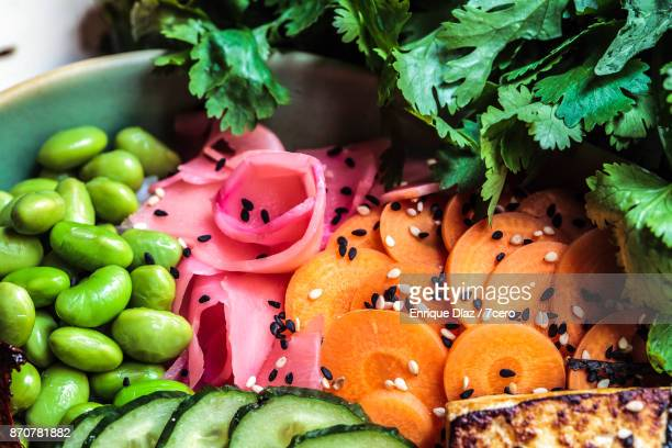 japanese colourful pickles - pickled ginger stock pictures, royalty-free photos & images