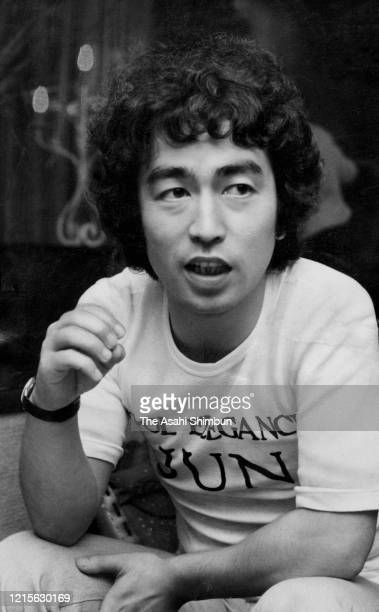 Japanese comedian Ken Shimura is photographed in Akasaka on unspecified date 1976 in Tokyo Japan