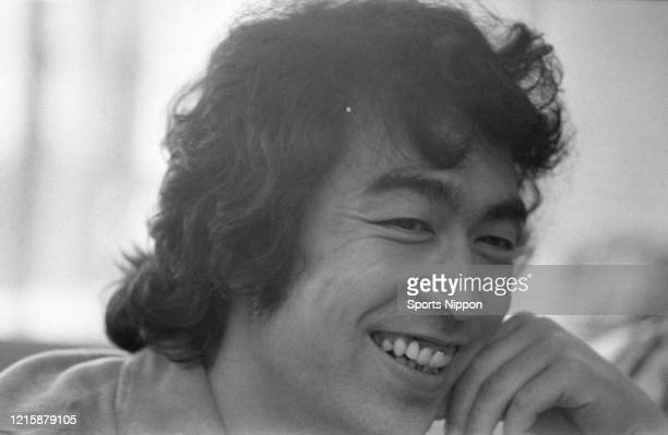Japanese comedian Ken Shimura is photographed on June 17 1976 in Tokyo Japan