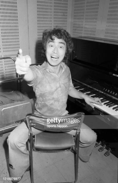 Japanese comedian Ken Shimura is photographed on June 17 1976 in Tokyo Japan