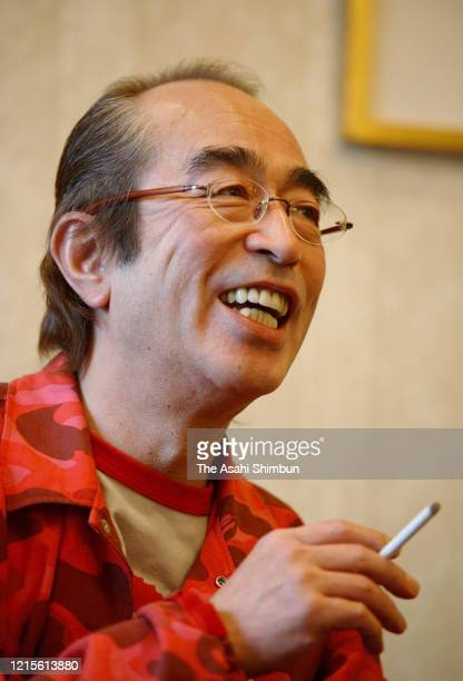 Japanese comedian Ken Shimura is photographed on November 10 2005 in Tokyo Japan
