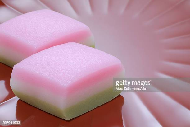 japanese confectionery - trapa stock pictures, royalty-free photos & images