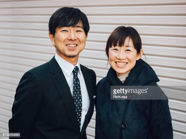 日本のカップルの肖像画