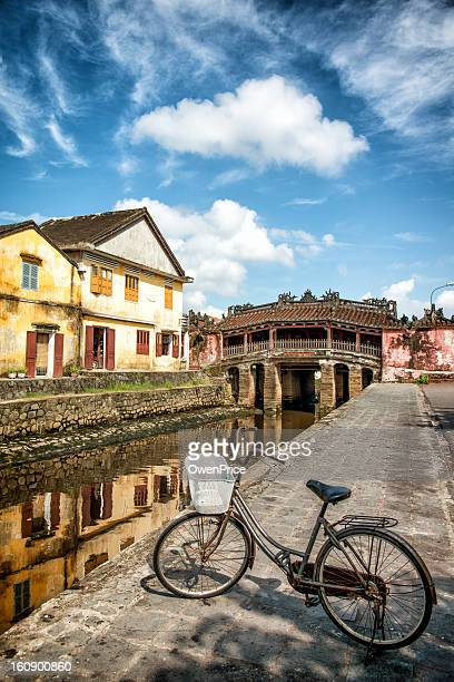 japanese covered bridge hoi an - vietnam - hoi an stock pictures, royalty-free photos & images