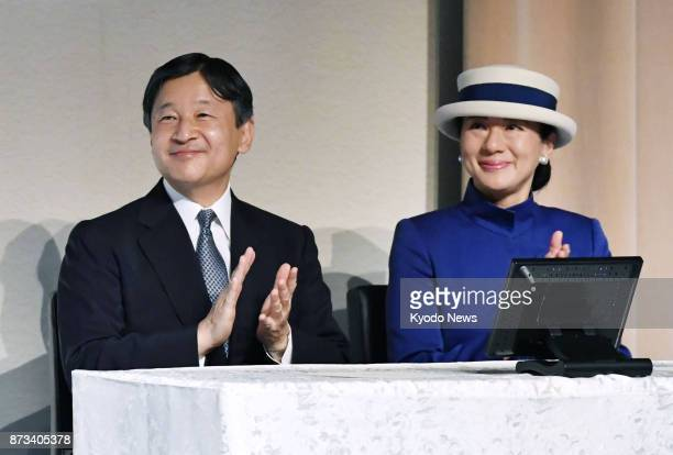 Japanese Crown Prince Naruhito and Crown Princess Masako attend a ceremony celebrating the 25th anniversary of the establishment of the International...
