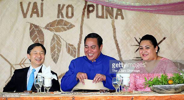 Japanese Crown Prince Naruhito attends the luncheon hosted by Princess Latufuipeka Tukuaho aka Princess Angelika along with Crown Prince Tupoutoa...