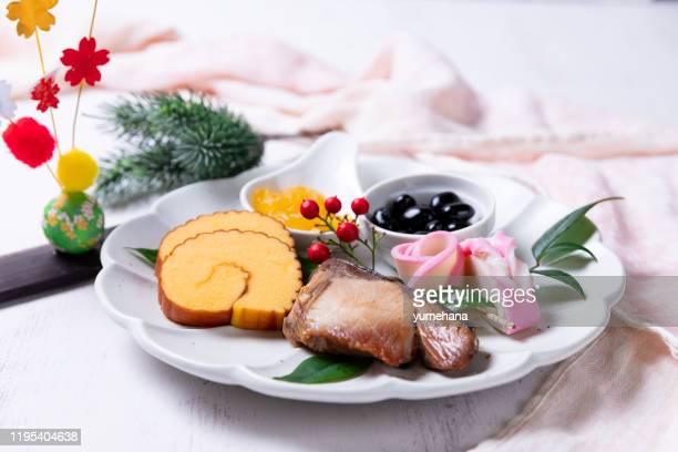japanese cuisine, osechi - osechi ryori stock pictures, royalty-free photos & images