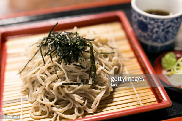 Japanese Cuisine, Soba, Buckwheat noodles with Tempura