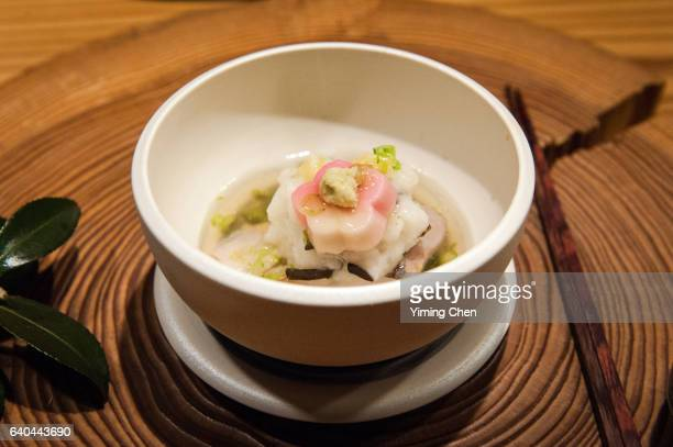 Japanese Cuisine: Steamed Tilefish with Turnip