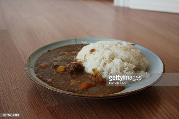 Japanese curry served in plate