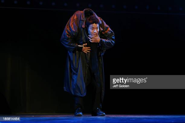 Japanese dancer Kenichi Ebina performs at The Greek Theatre on October 24 2013 in Los Angeles California