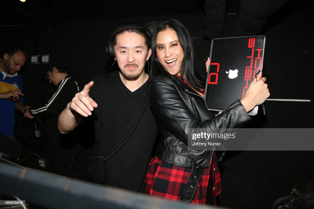 DJ Japanese Dee and DJ Michelle Pooch attend Jordin Sparks & Jason Derulo Welcome to New York Red, White and Black Super Bowl Party at WIP on January 29, 2014 in New York City.