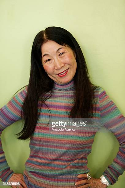 Japanese Designer Tsumori Chisato poses for a photograph during Paris Fashion Week in Paris, France on March 3, 2016.