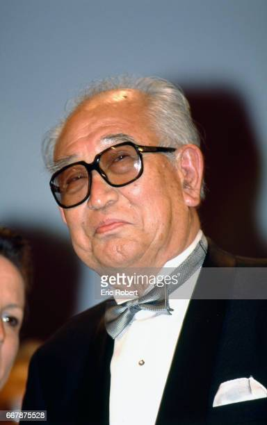 Japanese director Akira Kurosawa attends the 1990 Cannes Film Festival where he is showing his film Yume