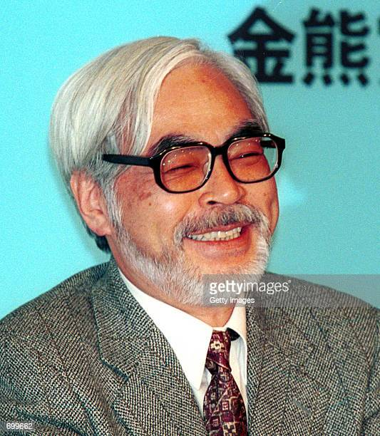 Japanese director Hayao Miyazaki smiles February 18 2002 at the Berlin Film Festival in Berlin Germany His animated film 'sen to Chihiro no...