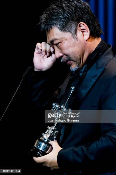 Japanese director Hirokazu Koreeda attends the Donostia Award gala during the 66th San Sebastian International Film Festival on September 23 2018 in...