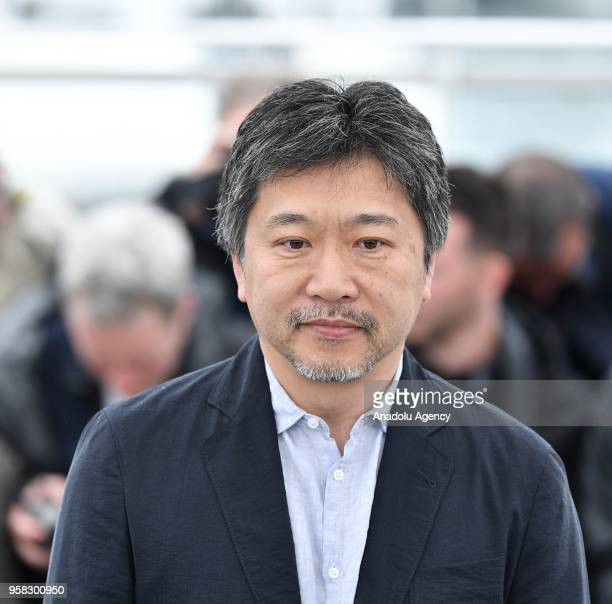 Japanese director Hirokazu Koreeda poses for the film Shoplifters ' at the 71st Cannes Film Festival France on May 14 2018