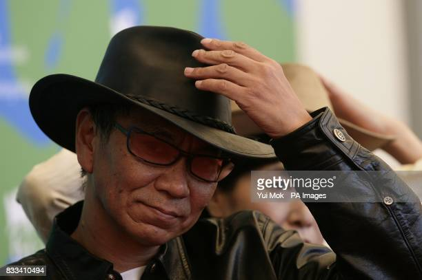 Japanese director Miike Takashi during a photocall for the film 'Sukiyaki Western Django' at the Venice Film Festival in Venice Italy