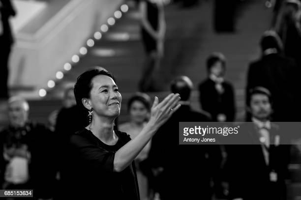Japanese director Naomi Kawase attends the 'Blade Of The Immortal ' premiere during the 70th annual Cannes Film Festival at on May 18 2017 in Cannes...