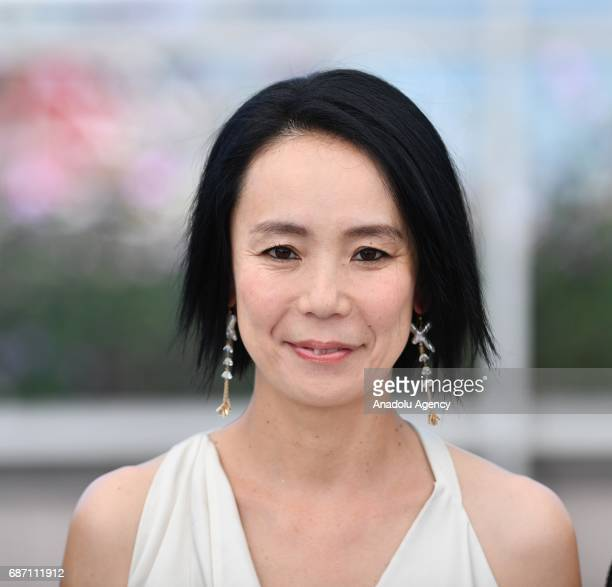 Japanese director Naomi Kawase poses during a photocall for the film Hikari in competition at the 70th annual Cannes Film Festival in Cannes France...