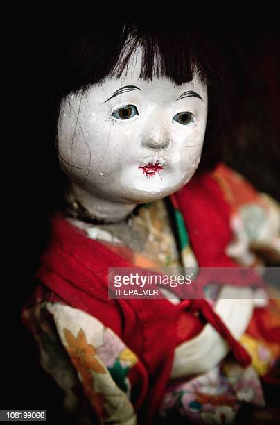 japanese doll - deterioration stock photos and pictures