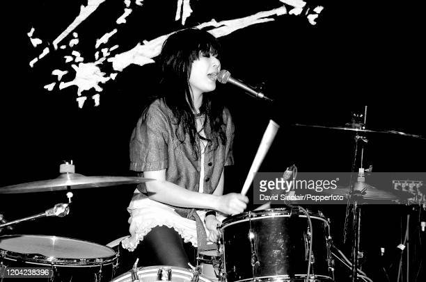 Japanese drummer Akiko Matsuura performs live on stage at The Spitz in London on 20th April 2006