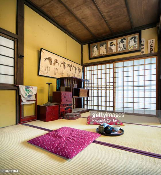Japanese Edo village hairstylist room movie set at Toei Studios Kyoto