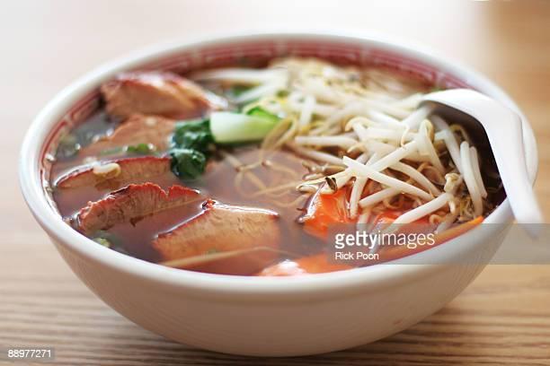 Japanese egg noodle soup