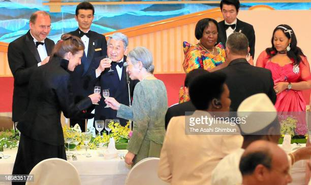 Japanese Emperor Akihito and Empress Michiko attend the 2nd Hideyo Noguchi Africa Prize for medical research on the sidelines of the threeday TICAD...