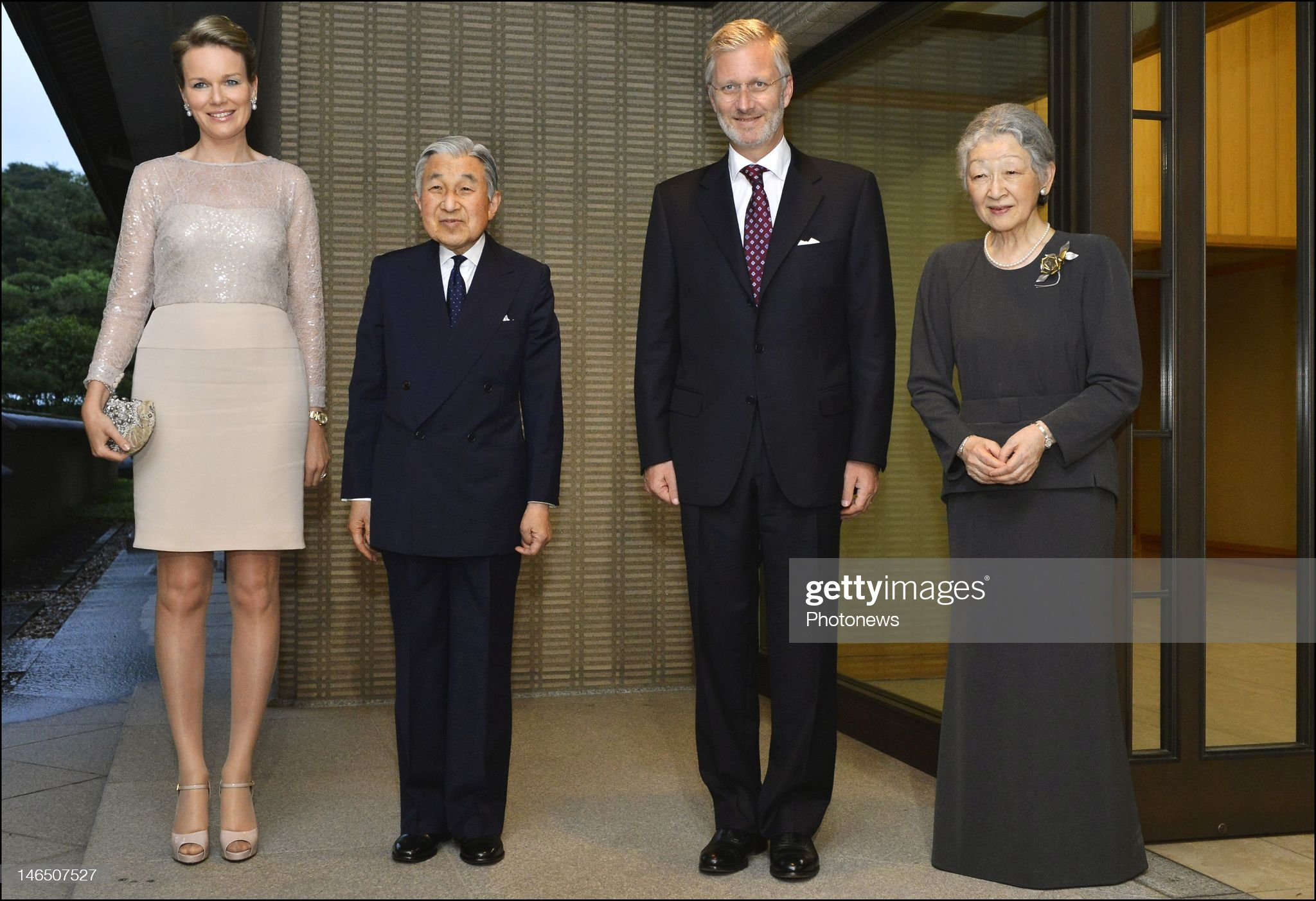 Вечерние наряды Королевы Матильды Prince Philip and Princess Mathilde of Belgium Visit To Japan : News Photo